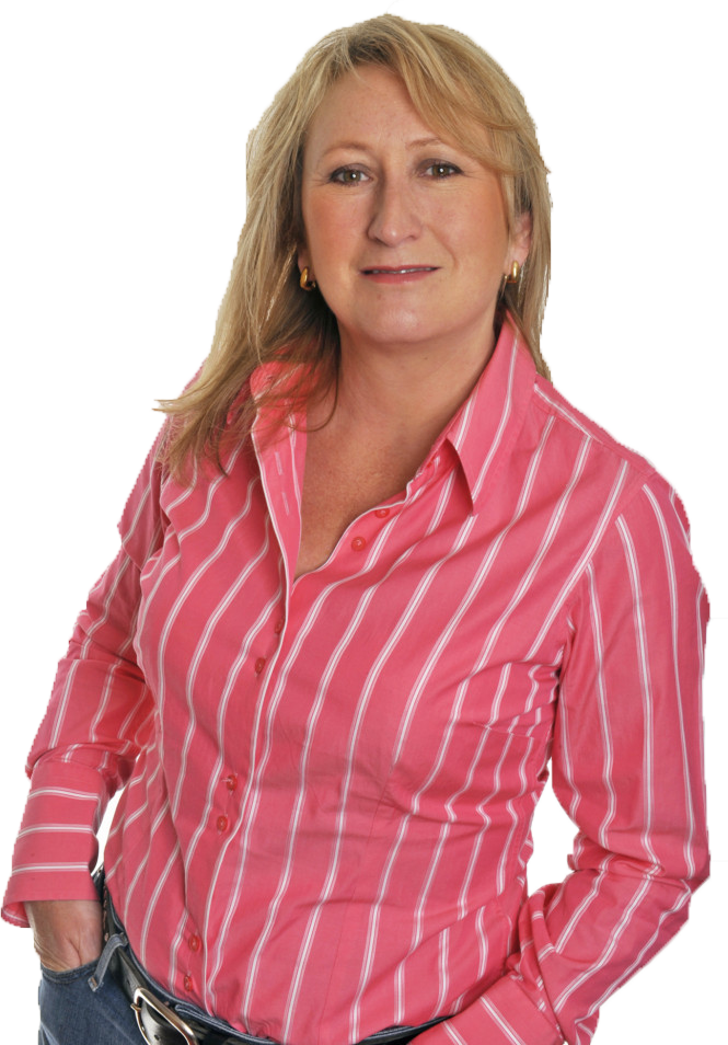 Lesley Everett with a pink shirt for download